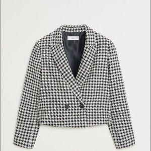 🦋Houndstooth Cropped Jacket